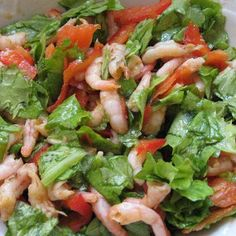 Seafood vegetable salad – World Food Vegetable Salad Recipes, Greek Recipes, Kung Pao Chicken, Seafood, Food And Drink, Yummy Food, Vegetables, Cooking, Ethnic Recipes