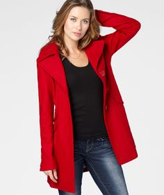 Red Peacoat,  fredflare.com    # Pin++ for Pinterest #