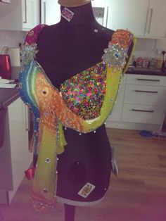 Look at this fantastic Bollywood inspired #bra, decorated by Budgies Bras for Meena at The London #MoonWalk2015