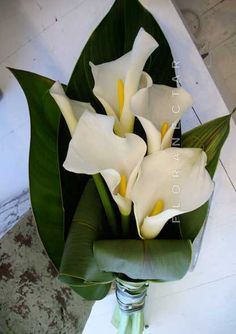 Cala Lily Bouquet ... love this lots of green