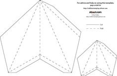 Template for paper 3D star Either print, trace, cut, and fold OR  trace in silhouette studio and cut!