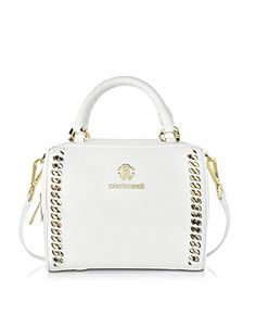 ROBERTO CAVALLI Roberto Cavalli Women'S Ckb766Pz41000005 White Leather Handbag. #robertocavalli #bags #shoulder bags #hand bags #leather #