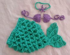 Crochet Mermaid Tail 0 to 3 Month,Crochet Baby Mermaid Outfit,Ariel Inspired Mermaid Halloween Costume,Crochet Baby Gift,Ready To Ship by RenegadesCreations on Etsy