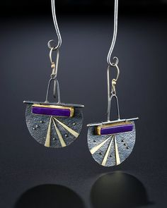 Sugilite Gel Earrings