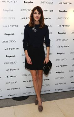 """alexastyle: """" Alexa Chung arrives for the Esquire, Mr Porter, Jimmy Choo party as part of The Men London Collections at Corinthia Hotel London on June 2012 in London, England. Daily Alexa Chung, Gamine Style, Scottish Fashion, London Photos, Esquire, Jimmy Choo, Fashion Models, Nice Dresses, What To Wear"""