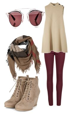 """Untitled #101"" by amna-hakeem on Polyvore featuring Rich & Skinny, Derek Lam, Burberry and Christian Dior"