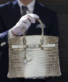 Crocodile Diamond Birkin - most expensive purse in the world. Sold at Christie's auction for $300,000