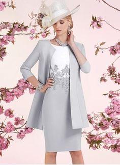 Robe grise pour mere dela mariee