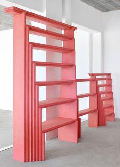 Design Miami Basel 2016 - candy pink furniture by Architecten De Vylder Vinck Taillieu for Maniera gallery in Brussels. Pink Furniture, Unique Furniture, Contemporary Furniture, Furniture Decor, Furniture Design, Pink Shelves, Studio Mumbai, Do It Yourself Furniture, Pink Candy