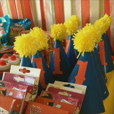DIY Circus 1st Birthday Pom Pom Party Hats