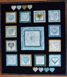 """Model from a class, """"Stingsetting"""" (Digitizing). All the hearts are digitized in 5D Design Creator."""