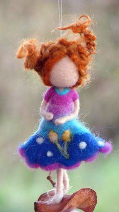 Fairy ornament Needle felted ornament Waldorf inspired doll