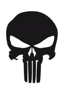 The Punisher Logo Car, Van, Laptop, Scooter Vinyl Decal Sticker Cricut Air, Cricut Vinyl, Vinyl Decals, Car Decals, Sticker, Punisher Logo, Punisher Skull, Skull Stencil, Stencil Art