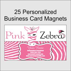 Black table runner can be used in combination with a table cover or pink zebra personalized business card magnets 25 colourmoves
