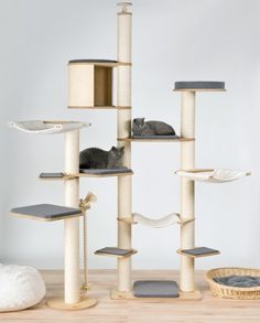 A stylish cat tree, but it is a bit expensive! Deckenspanner Modell Ferdinand