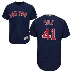 8fe97468479 Red Sox  41 Chris Sale Navy Blue Flexbase Authentic Collection Stitched MLB  Jersey Cheap Nba