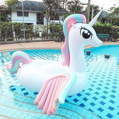 Buy Giant Inflatable Unicorn Pool Float online up to off + free worldwide shipping. Find the perfect Giant Inflatable Unicorn Pool Float present, novelty games and toys. Swimming Pool House, My Pool, Swimming Pools, Pool Water, Cute Pool Floats, Giant Pool Floats, Giant Floaties, Pool Floats For Adults, Giant Inflatable Unicorn