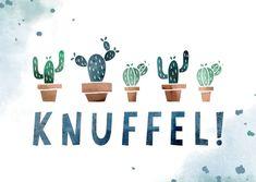Beterschapskaart knuffel met cactussen - Beterschapskaarten Warm Hug, Decals, Home Decor, School, Google, Quotes, Crowns, Get Well Soon, Cactus
