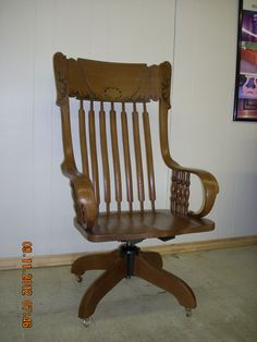 CHECK OUT THIS OLD ROCKING HIGH BACK BUSINESS CHAIR!!!!!. This. Furniture  RepairIn ...