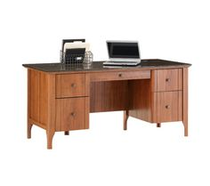 """Sauder Appleton Executive Desk 65"""" wide (5.5ft) Office Max $349.99"""