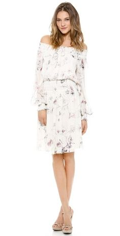 Marchesa Voyage Smocked Off Shoulder Dress | SHOPBOP