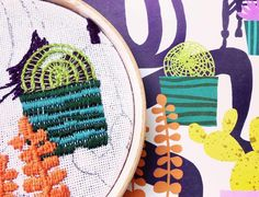 Stitchy Friday: A Colorful Embroidered Collaboration
