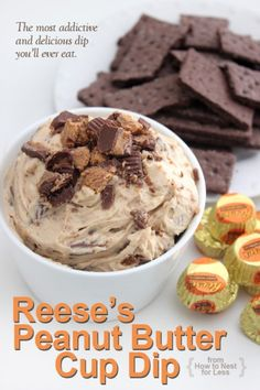 Reeses Peanut Butter Cup Dip... The most addictive and delicious dip you'll ever eat!