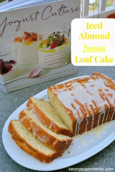 Iced Almond-Lemon Loaf Cake is a sunny loaf cake that uses yogurt for tender, moist crumb and tangy flavor. | #teamyogurt #stonyfieldblogger | www.savoryexperiments.com