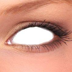 White Zombie Sclera Contact Lenses (1 pair)