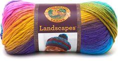Lion Brand LANDSCAPES fil à tricoter multicolore