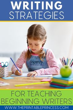 Are you looking for ways to help your beginning writers? These writing strategies for beginning writers will help you support your students through all stages of the prewriting and writing process and help you teach them proper handwriting mechanics and writing conventions.