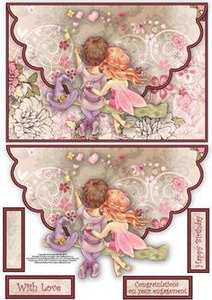 Loving cuddles envelope card on Craftsuprint designed by Amanda McGee - A lovely envelope card featuring a fairy and wizzard having a cuddle. Envelope Template Printable, Printable Paper, Decoupage Vintage, Decoupage Paper, Scrapbooking, Scrapbook Paper, Envelopes, Image 3d, Diy Envelope