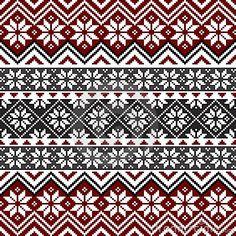 Nordic snowflake pattern by Ela Kwasniewski, via Dreamstime