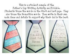 Fabulous Father's Day Writing Activity!