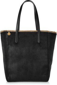 Black faux brushed-leather Stella McCartney