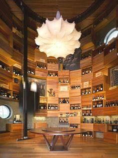 Cave à vin et bar avec terrasse extérieur- idées venant des Maldives!