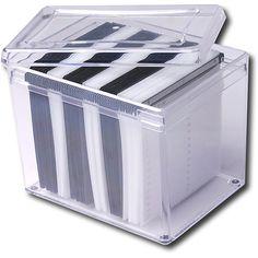 Goodies - 120-Disc CD/DVD Storage Box - Clear from Best Buy  sc 1 st  Pinterest & 120-Disc Acrylic Storage Box | Cleanu0026Organize | Pinterest | Storage ...
