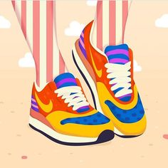Oh happy days! Love these popart sneakers by @petraerikssonstudio