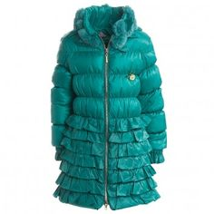 Miss Blumarine Girls Down Padded Coat at Childrensalon.com