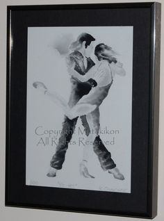 Argentine Tango Ink Painting