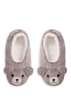Primark - Gray Bear Slippers