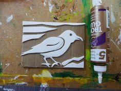 that artist woman: printmaking with fun foam and cardboard