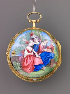 Watch: gallant scene in the Fragonard manner France and probably Switzerland  (France and probably Switzerland, mid-18th century)  Artist:     French Date:     ca. 1758-65