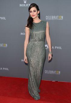 Emmy Rossum Beaded Dress