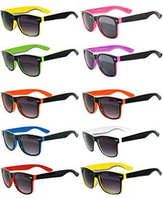 b3aba37655 Amazon.com  New Retro Vintage Two -Tone Sunglasses Smoke Lens OWL  (10-pairs-mix-color-smoke-lens