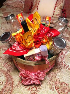 We're donating this RedNeck Wine Basket for the SafeHaven Cat Shelter Black & White Ball's silent auction: 4 glasses, a tiered serving piece, wine, bandana cocktail naps, Slim Jims, Moon Pies, & Lance crackers~it's sure to bring top dollar ;)!