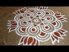Rangoli Designs Simple Diwali, Rangoli Designs Flower, Free Hand Rangoli Design, Rangoli Border Designs, Small Rangoli Design, Rangoli Ideas, Rangoli Designs With Dots, Rangoli With Dots, Easy Rangoli