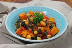 Rezept: Herbstliches Kürbis-Curry mit Kichererbsen und Spinat (vegan) | Projekt: Gesund leben | Ernährung, Bewegung & Entspannung