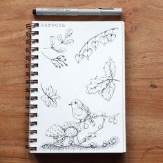 Drawing with pen by karoeza #fall