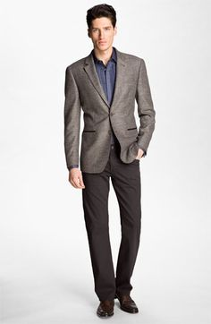 Not bad at all for around town.    John Varvatos Star USA Sportcoat, Dress Shirt & AG Jeans Straight Leg Pants | Nordstrom